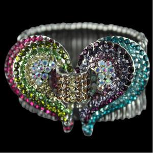 Rainbow Crystal Stretchy Bracelet