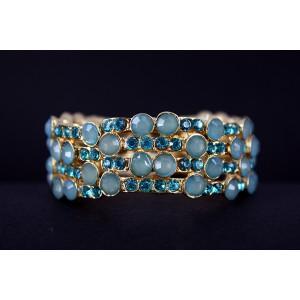 Blue Crystal Stretchy Bracelet