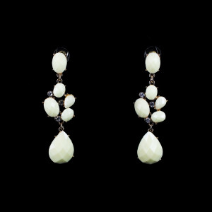 Ivory Dangling Crystals