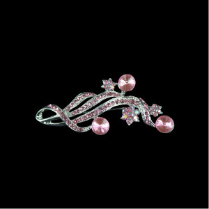 Pink Diamonte Brooch