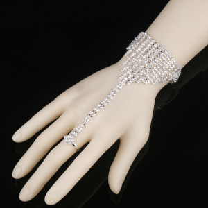 Crystal Bracelet with Ring