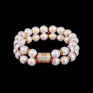 Gold Pearl Stretchy Bracelet