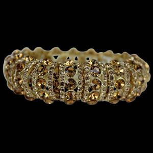 Gold Topaz Elastic Fashion Bangle