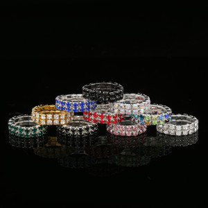 Pack of 12 Stretchy Finger Rings