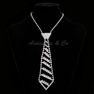 Silver Tie Necklace