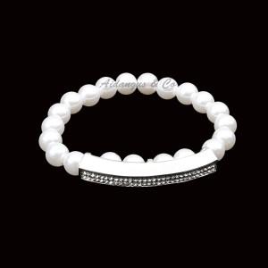 Pearl Crystal Stretchy Bracelet